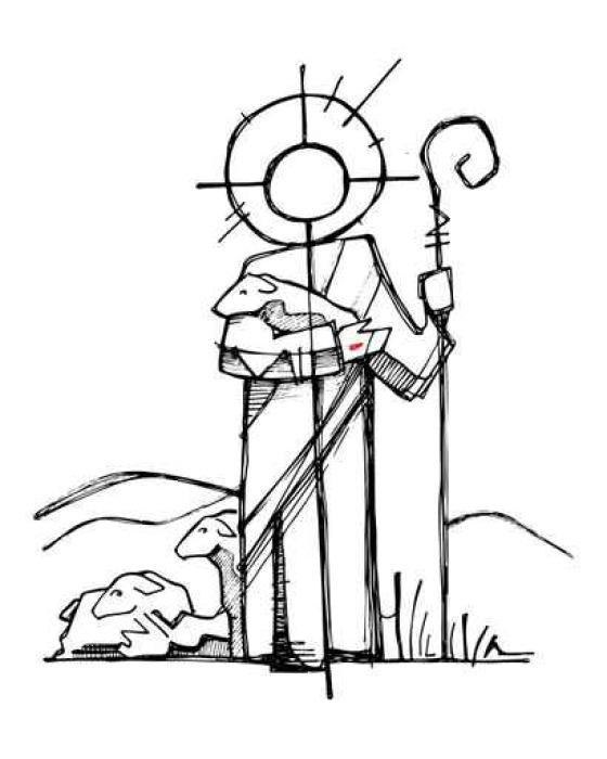 Fototapete Jesus Christus Guten Hirten • Pixers® - Wir leben, um zu ...