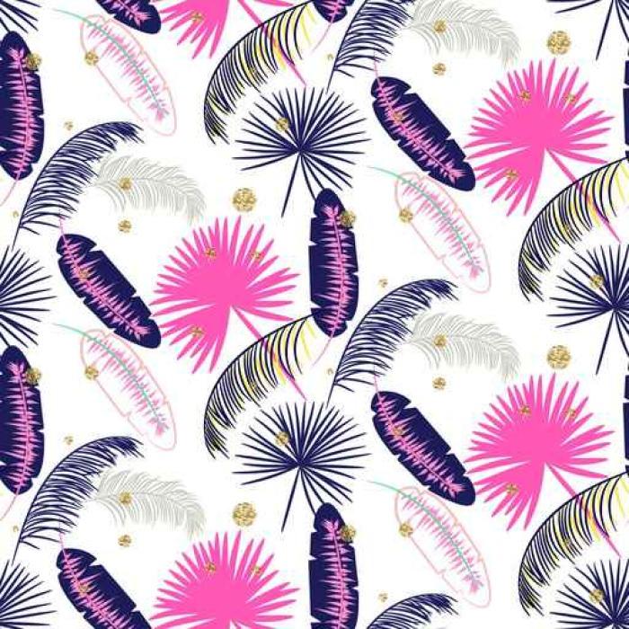 papier peint rose et bleu palmier feuilles de bananier mod le vectoriel sans soudure sur fond. Black Bedroom Furniture Sets. Home Design Ideas