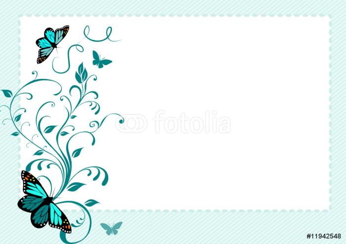 Vinylová Tapeta Motýli - Roční období