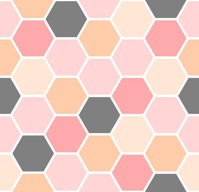 Papier Peint Modèle sans couture d\'hexagone • Pixers® - Nous vivons ...