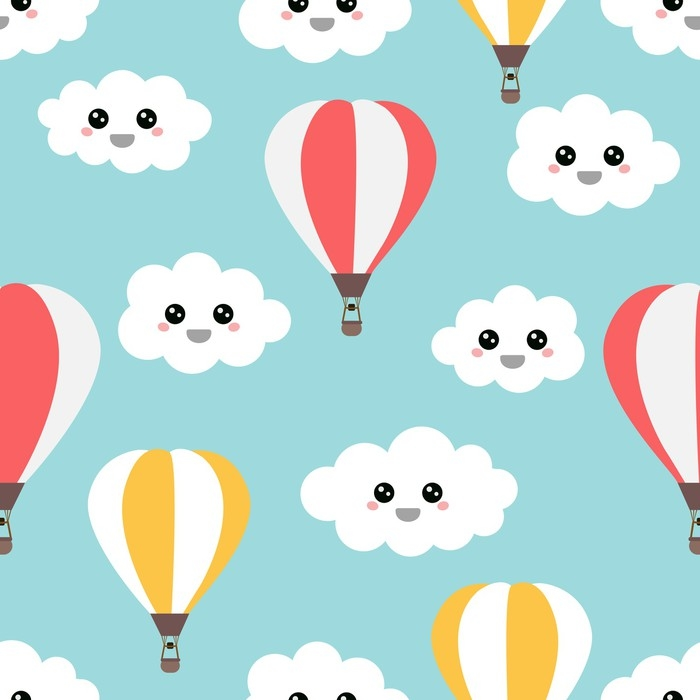 Nálepka Pixerstick Létající balónky - Grafika