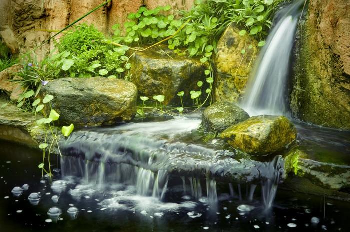Japanese Garden Waterfalls, Slow Shutter. Wall Mural   Vinyl Part 57