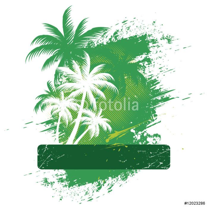 Carta da parati telaio vettore con palme stilizzate for Carta da parati vinile