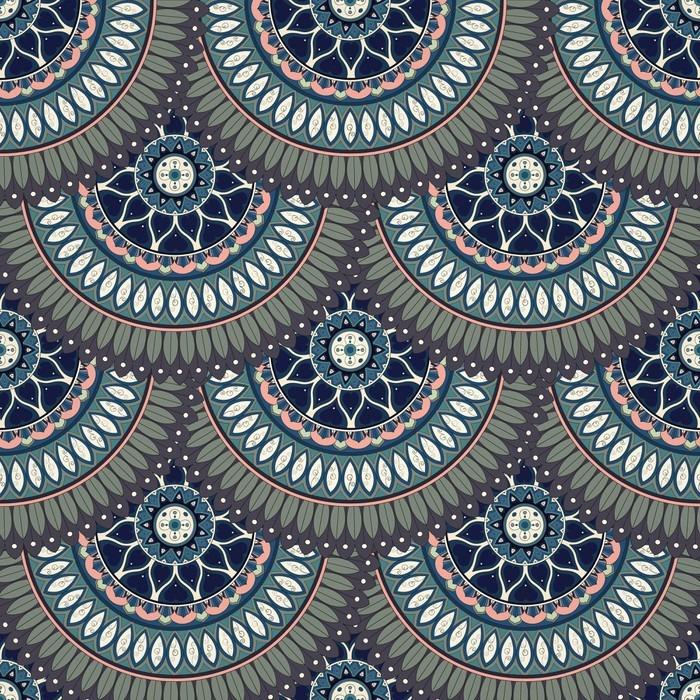 tableau sur toile ornement seamless texture floral motif sans fin avec des l ments de mandala. Black Bedroom Furniture Sets. Home Design Ideas