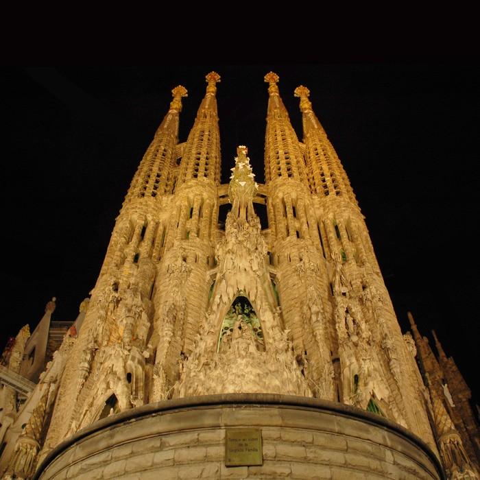 Vinylová Tapeta Svatá rodina v noci (Barcelona, Španělsko) - Témata