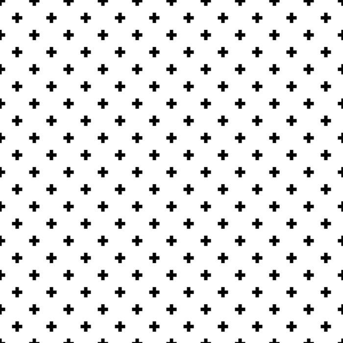 Papier peint vinyle Monochrome, résumé noir et blanc traverse seamless fond. - Ressources graphiques