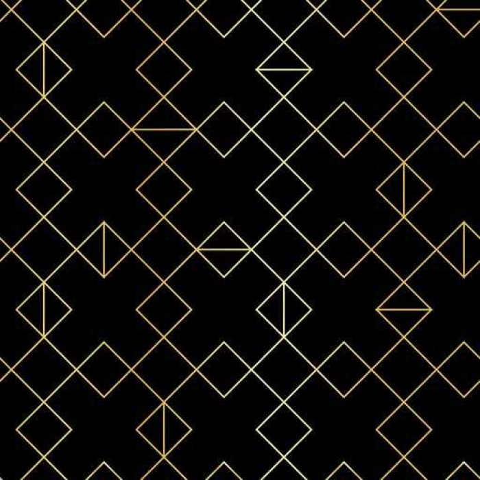 Seamless gold geometric pattern with line rhombus Self-Adhesive Wall Mural - Graphic Resources
