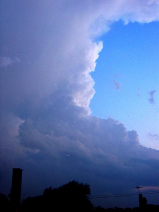 Vinylová Tapeta Obrovský bouřkový mrak - Přírodní krásy