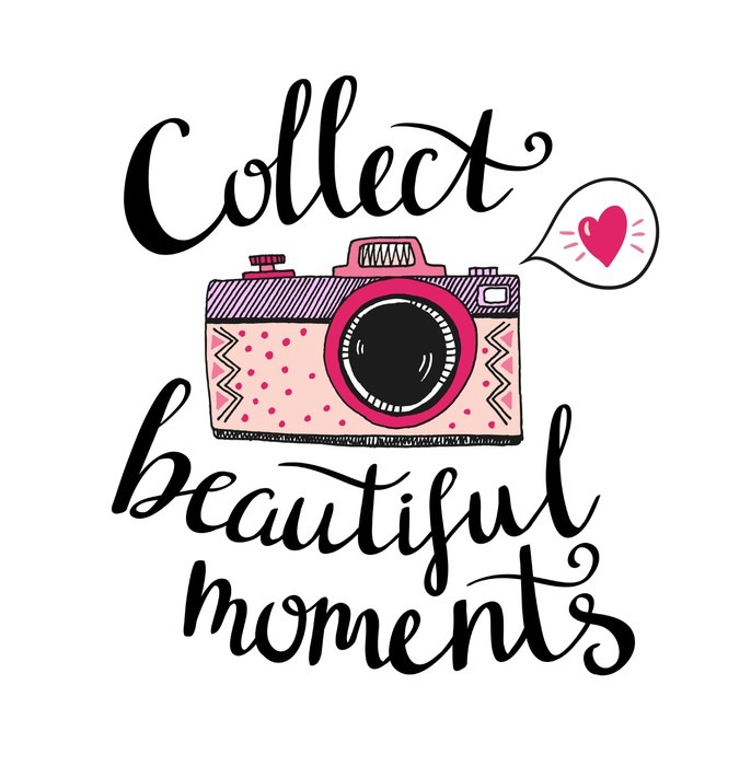 Retro Photo Camera With Stylish Lettering - Collect Beautiful