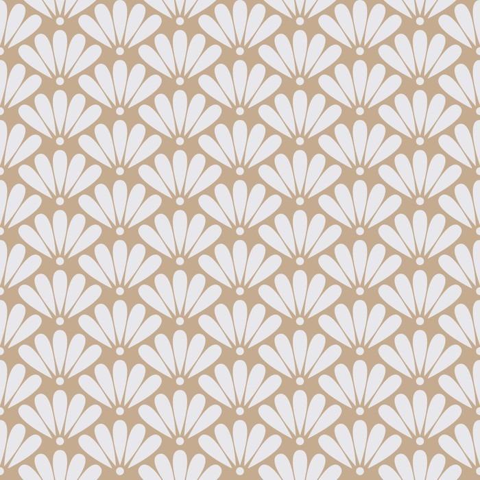 Mural de Parede em Vinil Seamless beige floral oriental padrão vector - Recursos Gráficos