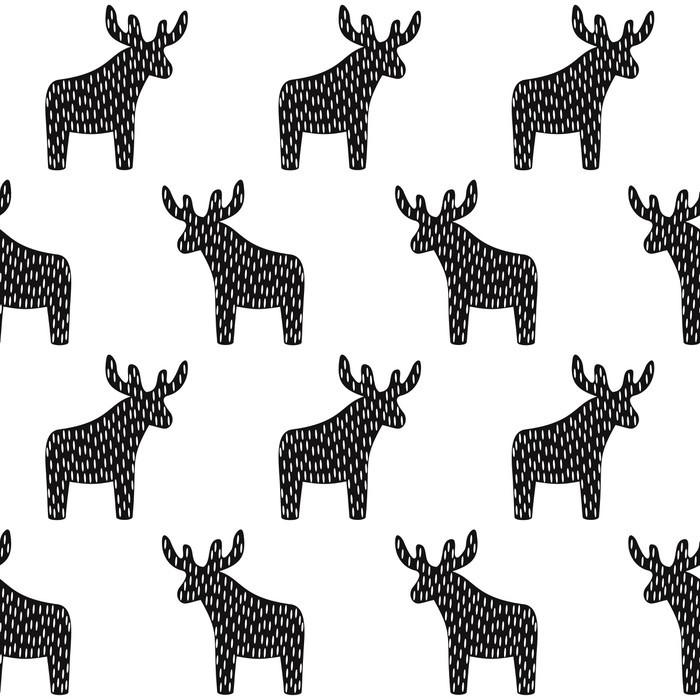 fototapete schwarze und wei e weihnachten muster mit rentiere einfache nahtlose frohes neues. Black Bedroom Furniture Sets. Home Design Ideas