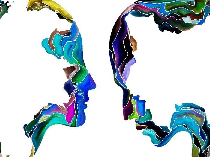 Veggklistremerke Virtual Self Fragmentation -