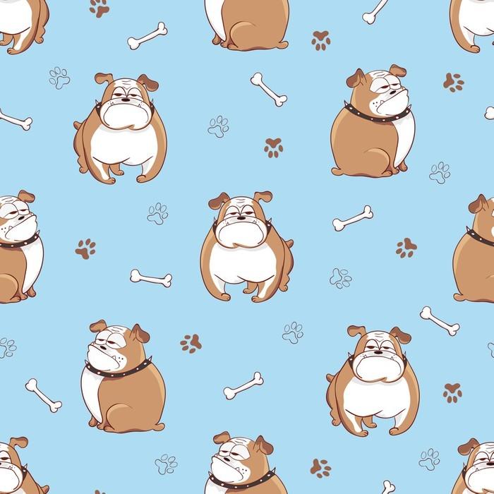 Carta da parati a motivi seamless pattern di cani