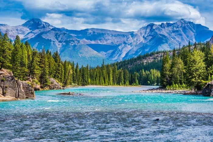Papier Peint Superbe Paysage De Montagne Canadienne