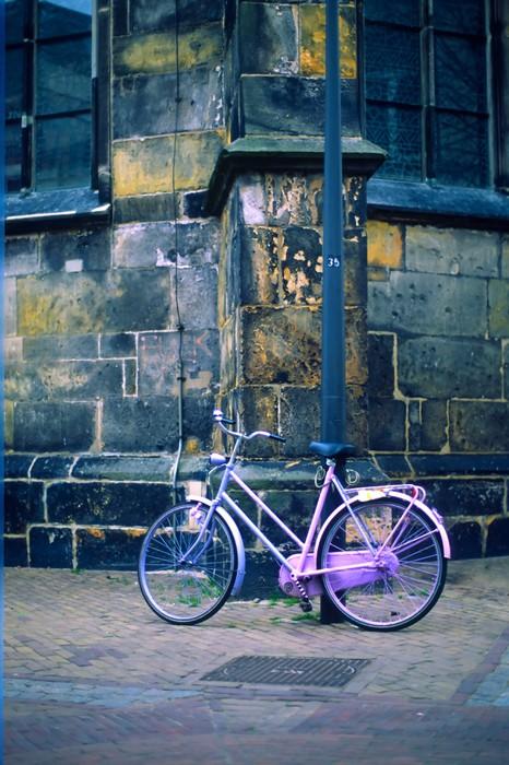 Sticker Pixerstick Bicyclette rose - Vélos