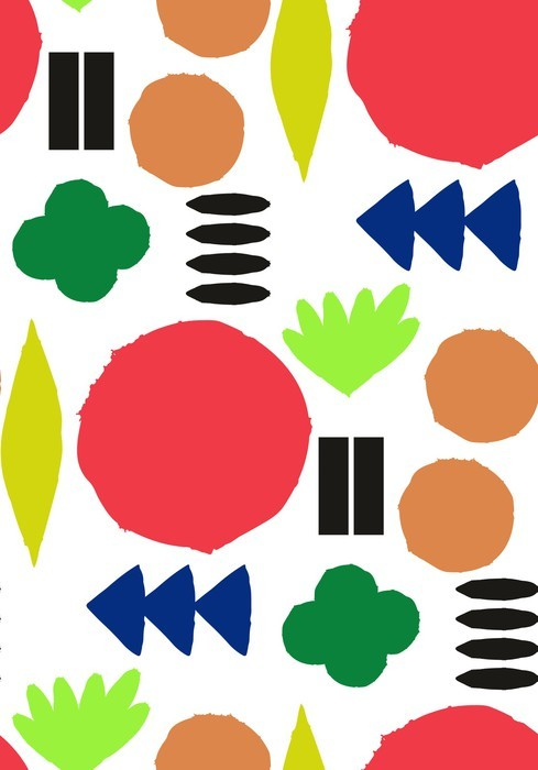 Vinylová Tapeta Bezešvé vzor s grafickými geometrickými prvky - Skandinávský