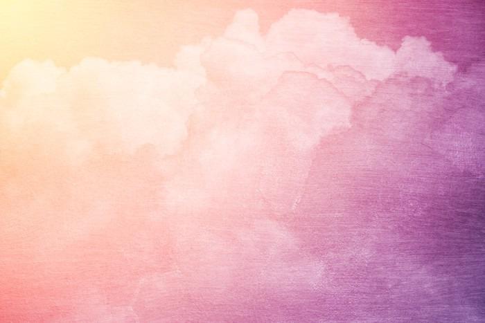 Vinylová Fototapeta Fantazie oblohy a oblačnosti s barvou pastel přechodem a grunge textury - Vinylová Fototapeta