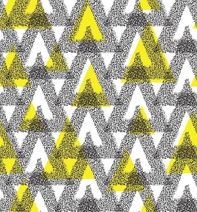 papier peint triangle motif abstrait chaotic pixers. Black Bedroom Furniture Sets. Home Design Ideas