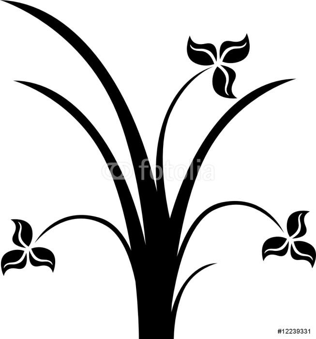 Vinylová Tapeta Flower sihouette - Květiny