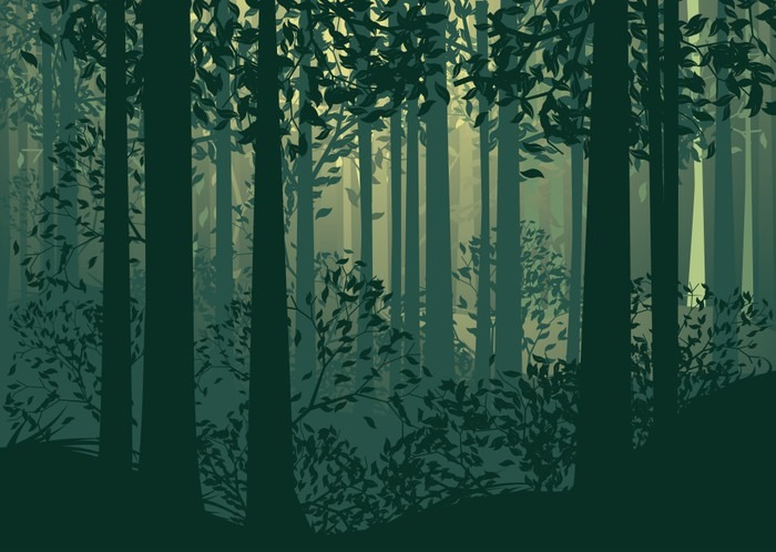 Abstract Forest Landscape Wall Mural Pixers 174 We Live