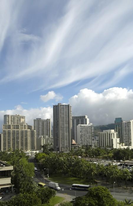 Vinylová Tapeta Waikiki panorama na Havaji - Amerika