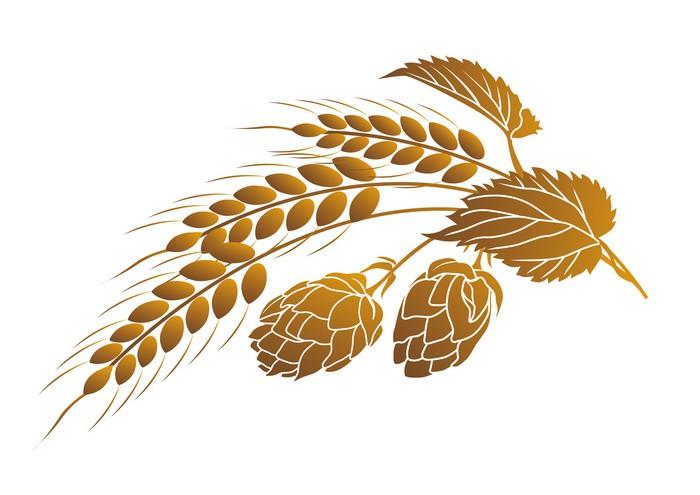 Vinylová Tapeta Chmel a pšenice - Rostliny