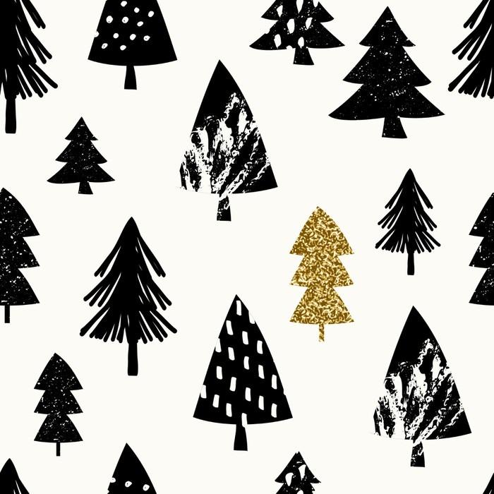 Adesivo per Tavolino Lack Seamless pattern di Natale - Panorami