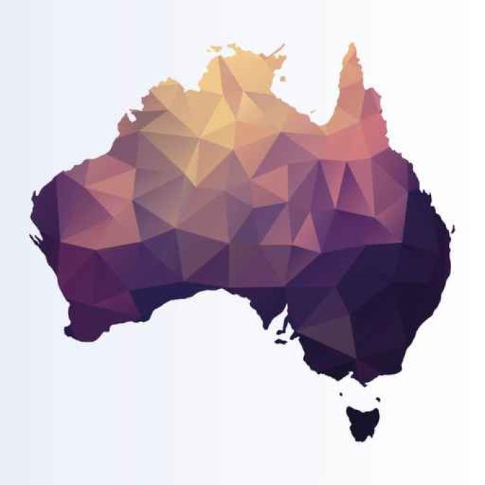 Vinilo Pixerstick Mapa poligonal de Australia • Pixers® - Vivimos ...