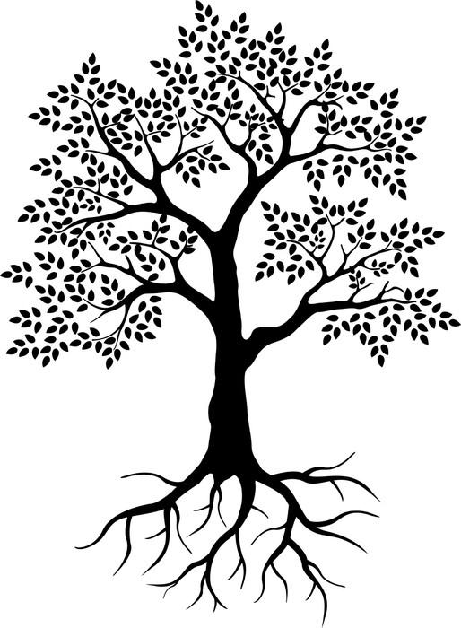 Musta Puu Siluetti Teidn Suunnittelua Juliste Pixers