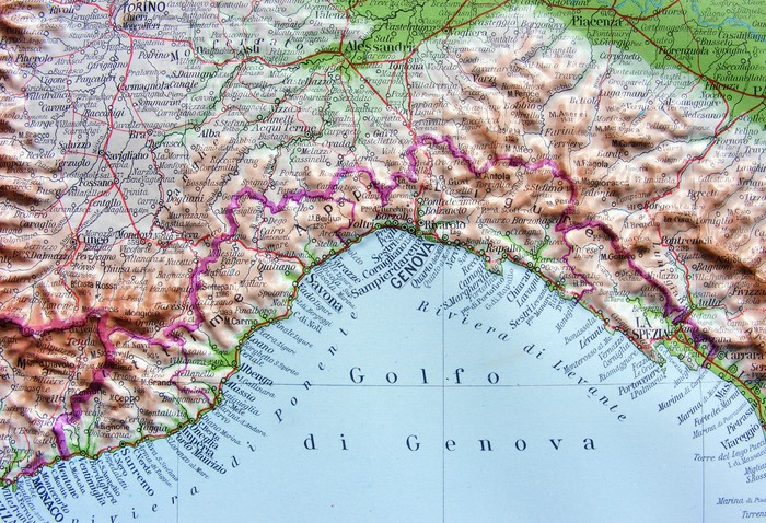Carta Geografica Della Liguria Wall Mural Pixers 174 We