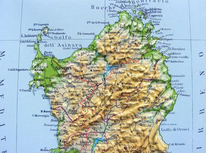 Carta da parati carta geografica della sardegna pixers for Carta da parati vinile