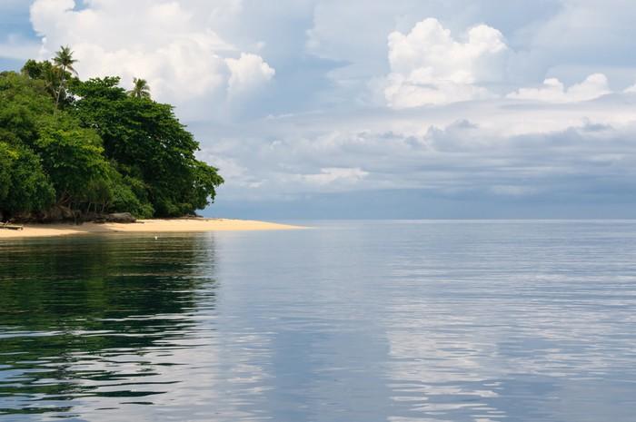 Vinylová fototapeta Tropický ostrov - moře, nebe a palmy - Vinylová fototapeta