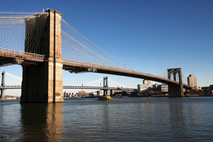 Vinylová Tapeta Klasické NY - Brooklyn most, pohled na Brooklyn z Manhattanu - Infrastruktura