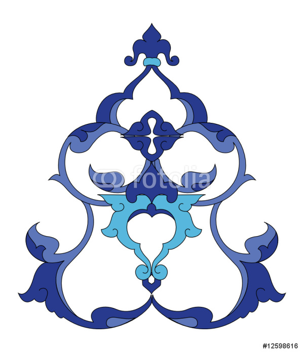 Vinylová Tapeta Tradiční starožitné osmanské turecké dlaždice ilustrace design - Pozadí