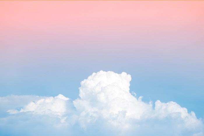 Vinylová Tapeta Abstraktní měkká oblohy oblačnosti s přechodem pastelově vintage barvy pozadí pro použití na pozadí - Grafika