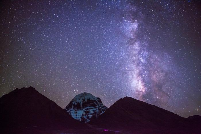 Vinylová fototapeta Milkyway na Mt.Kailash v Tibetu - Vinylová fototapeta