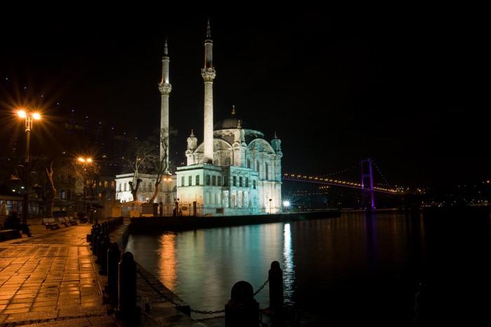Vinylová Tapeta Noční záběr nebo Ortakoy mešita, Istanbul - Střední Východ