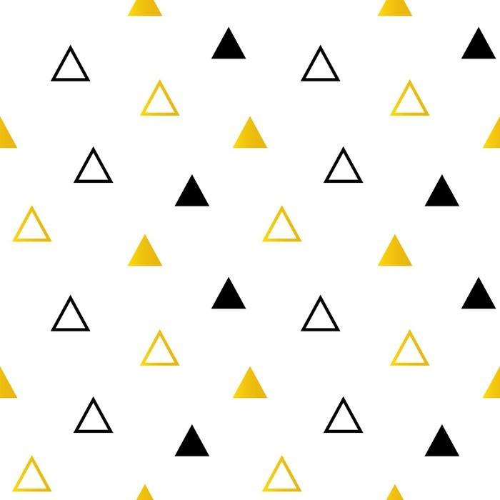 papier peint trendy triangles noir et or sur blanc seamless fond pixers nous vivons pour. Black Bedroom Furniture Sets. Home Design Ideas