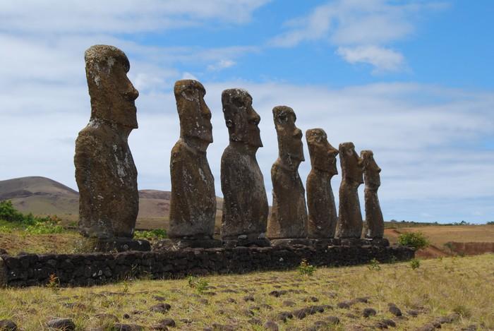 Vinylová Tapeta Sbírka Moai na Ahu Akivi - Amerika
