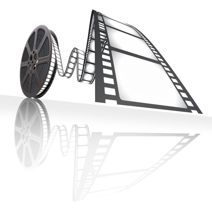 Quadriptyque Film Reel. Concept de l'industrie cinématographique. - Thèmes