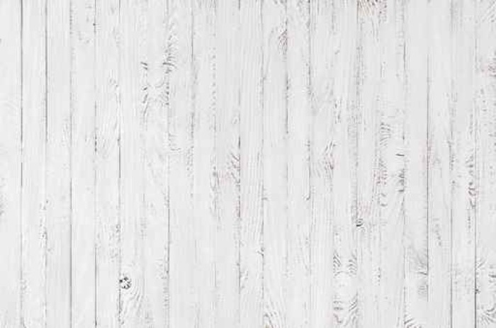 White Wood Texture Background Vinyl Wall Mural