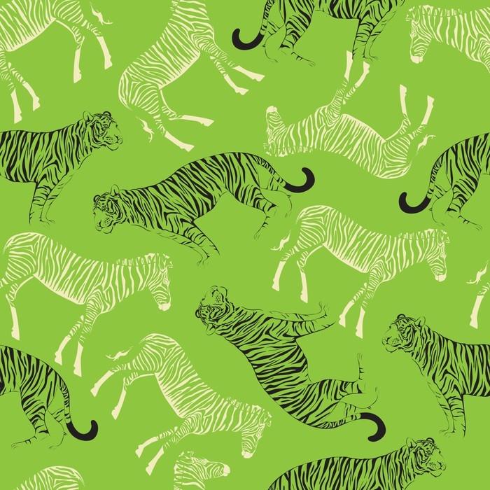 Papier peint tigre de conception graphique avec croquis - Papier peint zebre noir et blanc ...