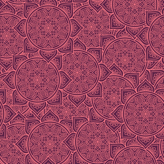 papier peint motif floral sans soudure ethnique pixers. Black Bedroom Furniture Sets. Home Design Ideas