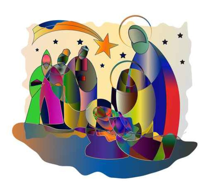 Christmas Nativity Religious Bethlehem Crib Scene With