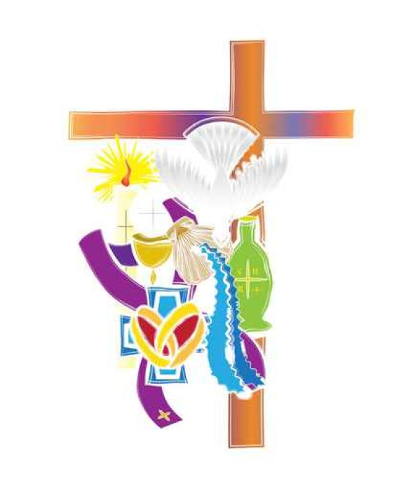 Symbols Of The Seven Sacraments Of The Catholic Church Abstract