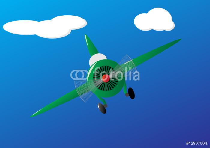 Vinylová Tapeta Letadlo - Vzduch