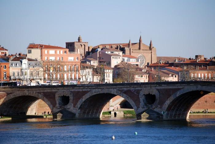 Vinylová Tapeta Toulouse, le Pont Neuf - Prázdniny