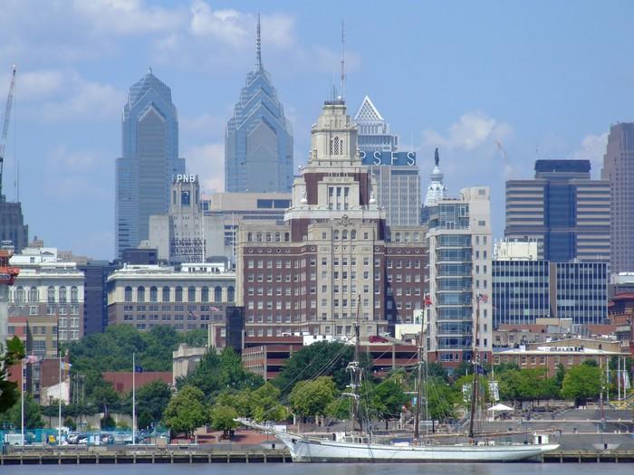 Philadelphia Skyline From Nj Side Wall Mural Pixers