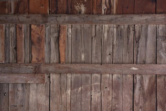 Fotomural Madera desgastada granero de la pared vieja • Pixers ...