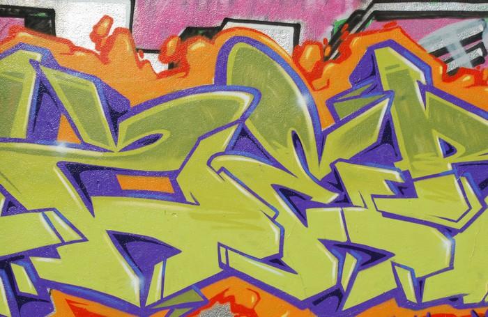 Graffiti Wall Wall Mural • Pixers® • We live to change